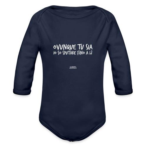T-Shirt Ovunque Tu Sia - Body ecologico per neonato a manica lunga