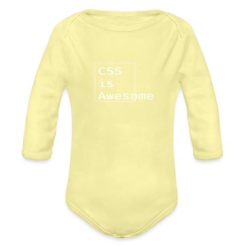 cssawesome - white - Baby bio-rompertje met lange mouwen