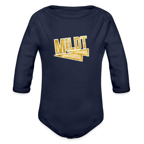 MILDT Gouden Mannen Shirt - Baby bio-rompertje met lange mouwen