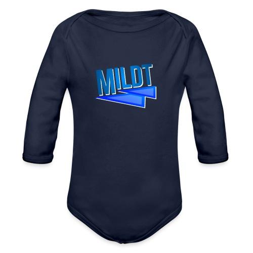MILDT Normale Mannen Shirt - Baby bio-rompertje met lange mouwen