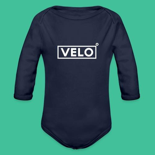Velo Icon - Blk Track Jacket - Organic Longsleeve Baby Bodysuit