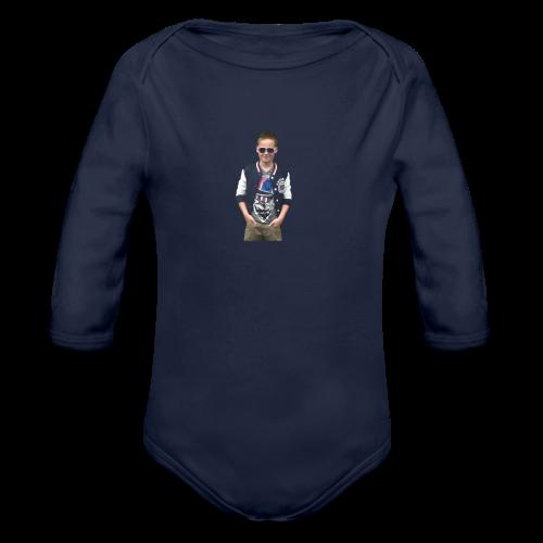 Lesley Button - Organic Longsleeve Baby Bodysuit