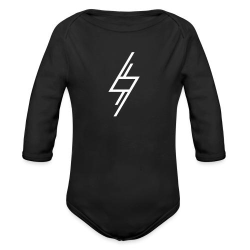 Sort T-Shirt - Langærmet babybody, økologisk bomuld
