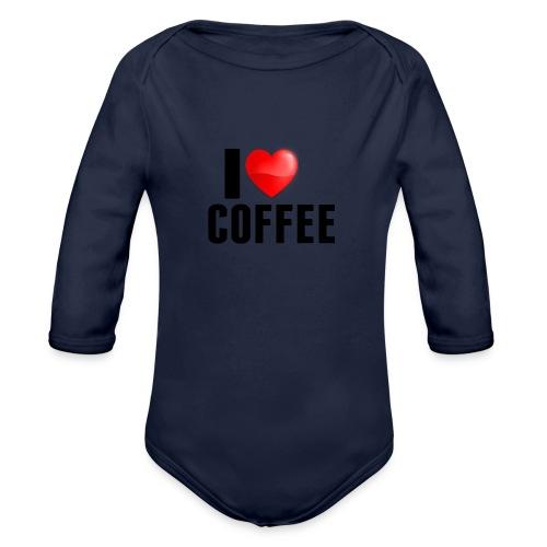I Heart Coffee - Baby bio-rompertje met lange mouwen