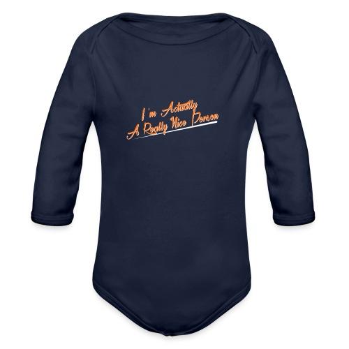 nice-person - Organic Longsleeve Baby Bodysuit