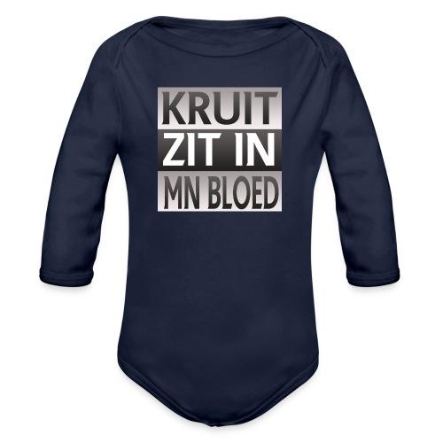kruit_zit_in_mn_bloed - Baby bio-rompertje met lange mouwen