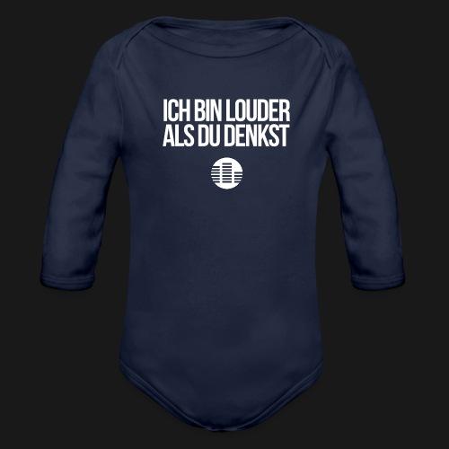 louder als du denkst - Baby Bio-Langarm-Body