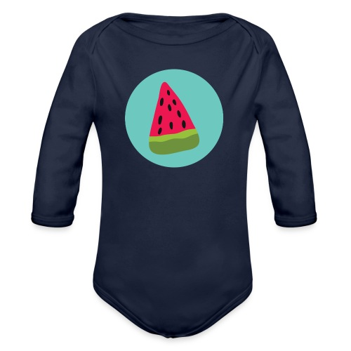 Watermelon - Body ecologico per neonato a manica lunga