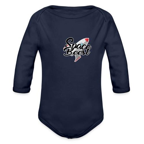 Logo, SpaceBeest - Baby bio-rompertje met lange mouwen