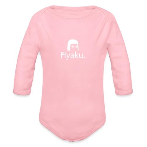 Hyaku White - Økologisk langermet baby-body