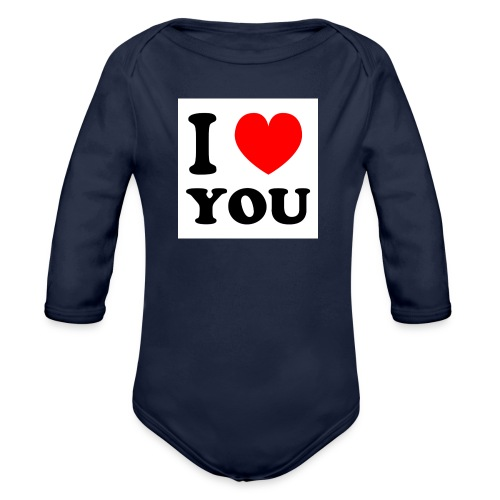 Sweater met i love you - Baby bio-rompertje met lange mouwen