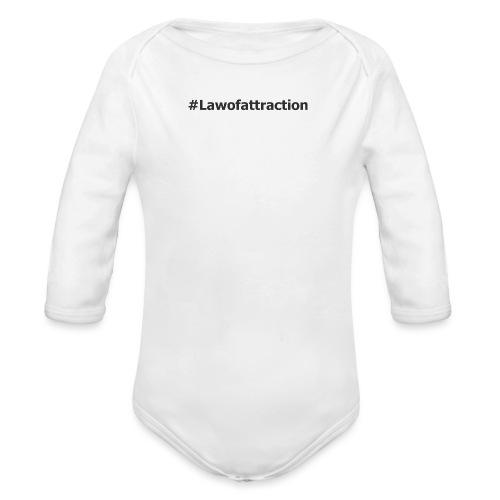 hashtag lawofattraction - Body Bébé bio manches longues