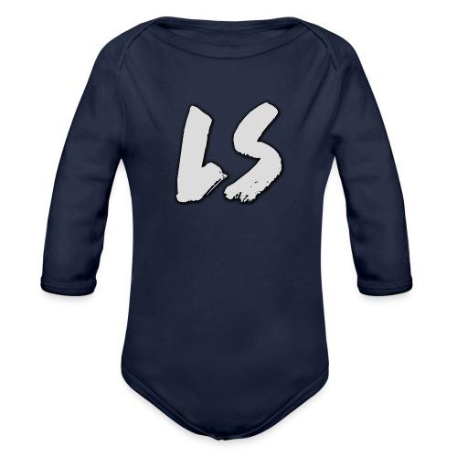ls logo - Baby bio-rompertje met lange mouwen