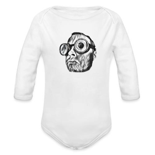 Face Tegner 2 - Langærmet babybody, økologisk bomuld