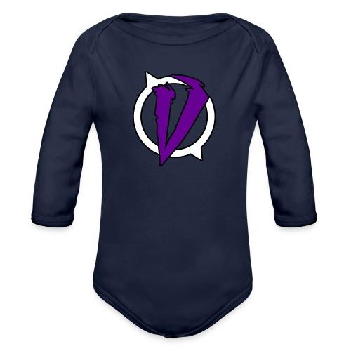 Logo VaroX Lila - Baby Bio-Langarm-Body