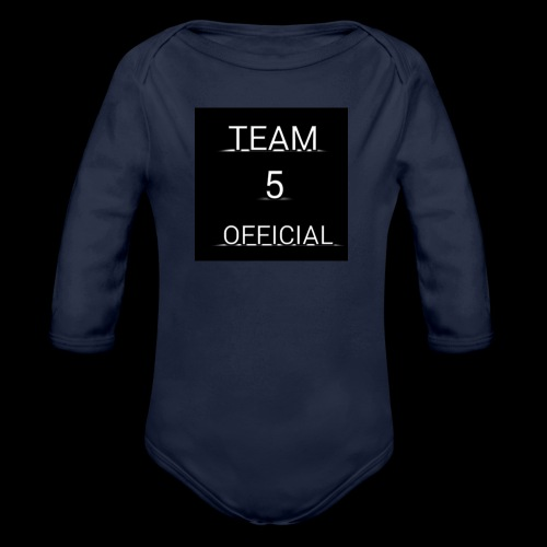 Team5 official 1st merchendise - Organic Longsleeve Baby Bodysuit