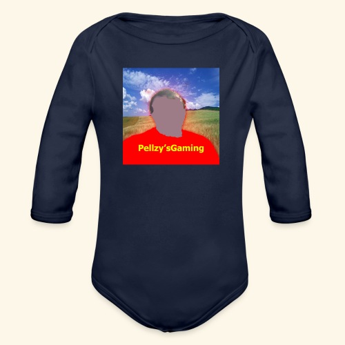 cartoon of myself - Organic Longsleeve Baby Bodysuit