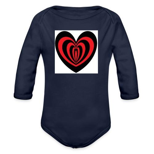 Hypno Herz - Baby Bio-Langarm-Body