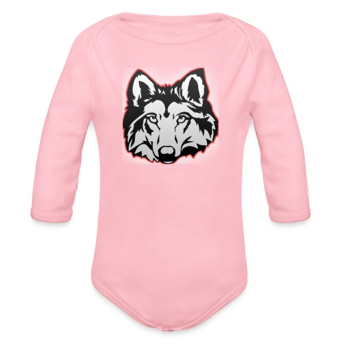Wolfie (Red) - Organic Longsleeve Baby Bodysuit
