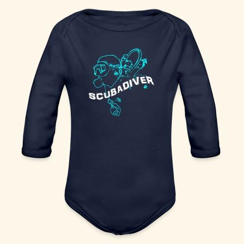 ScubaDiverShirt001 - Baby bio-rompertje met lange mouwen