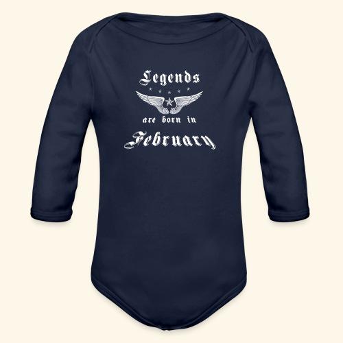 Legends are born in February - Baby Bio-Langarm-Body