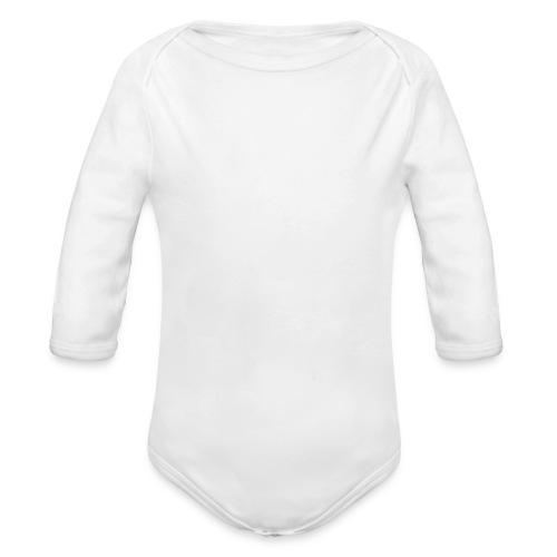 RW Logo In White - Organic Longsleeve Baby Bodysuit