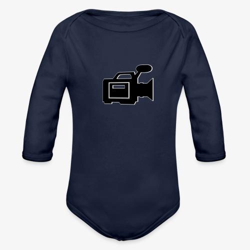 camera - Langærmet babybody, økologisk bomuld