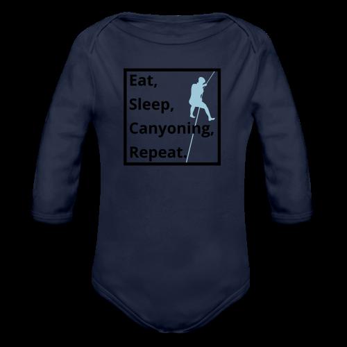 eat sleep canyoning repeat - Baby Bio-Langarm-Body