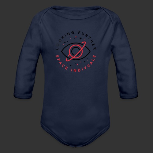 Space Individuals - Looking Further White - Organic Longsleeve Baby Bodysuit