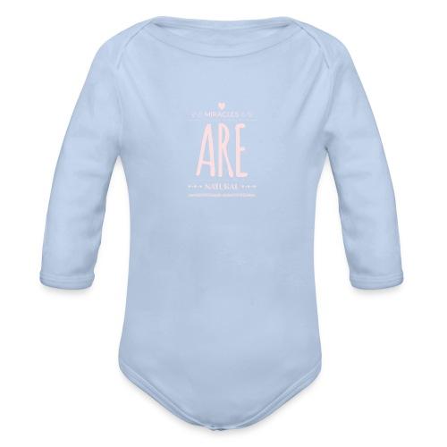 Daniela Elia Design - baby - miracles are natural - Baby Bio-Langarm-Body