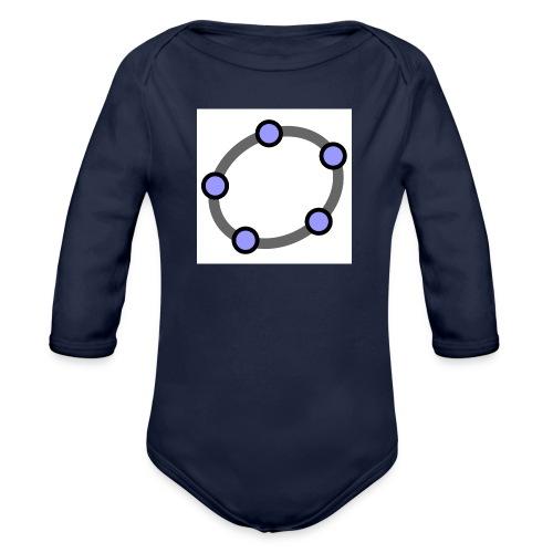 GeoGebra Ellipse - Organic Longsleeve Baby Bodysuit