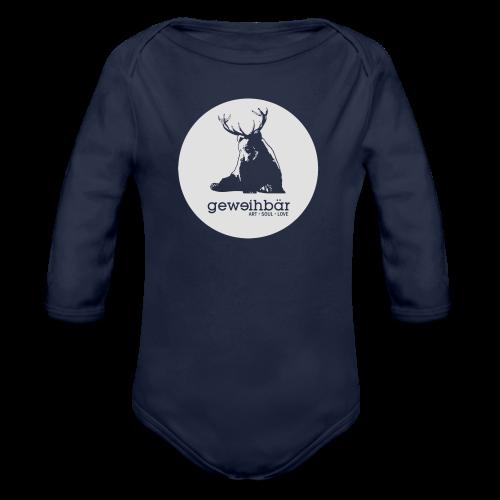 geweihbär - Baby Bio-Langarm-Body