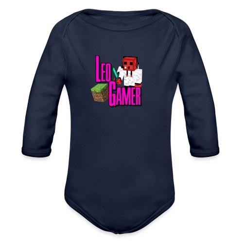 LeoGamer Minecraft - Organic Longsleeve Baby Bodysuit