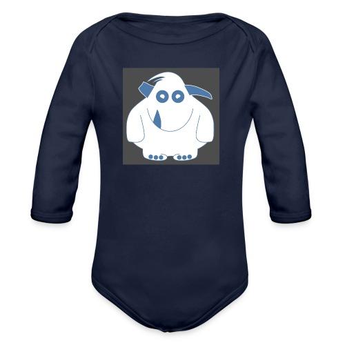 Pinky Monster - Organic Longsleeve Baby Bodysuit