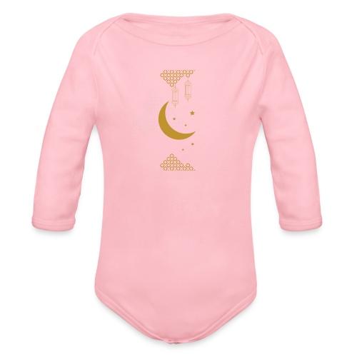 Ramadan Kareem Muslim holy month ilustration - Organic Longsleeve Baby Bodysuit