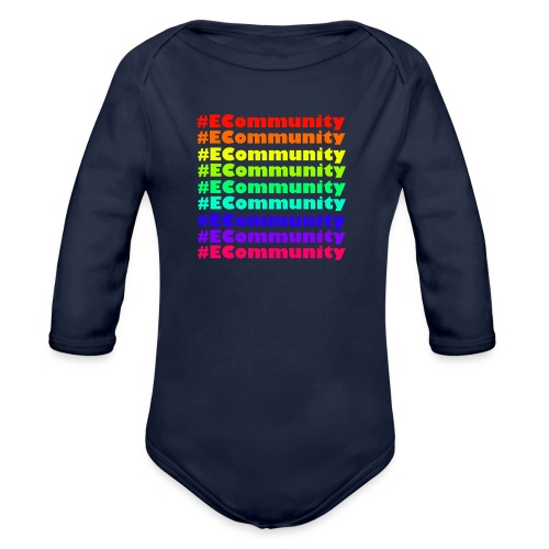 Ecommunity Rainbow - Baby Bio-Langarm-Body