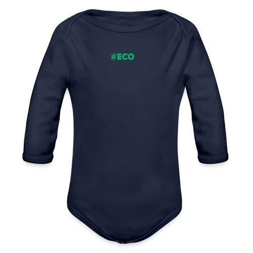 #ECO Blue-Green - Baby Bio-Langarm-Body