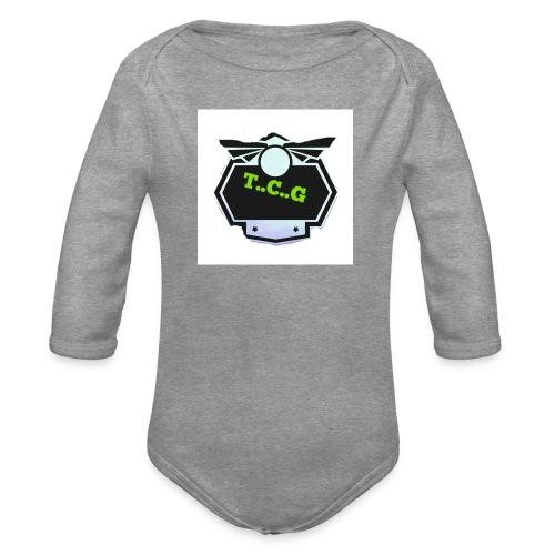 Cool gamer logo - Organic Longsleeve Baby Bodysuit