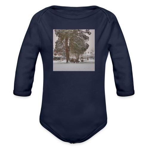 Graveyard In Winter - Organic Longsleeve Baby Bodysuit