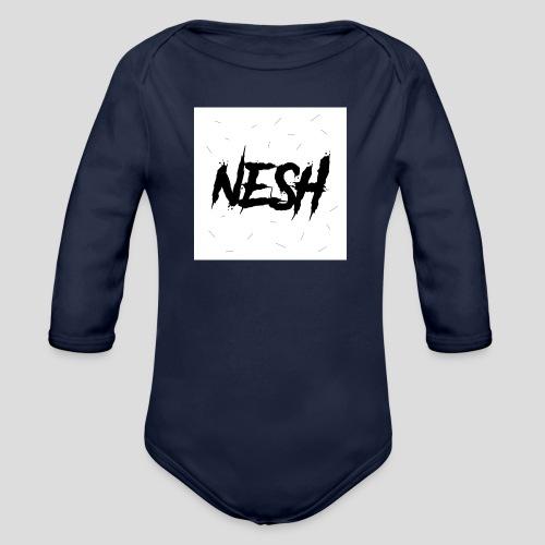Nesh Logo - Baby Bio-Langarm-Body
