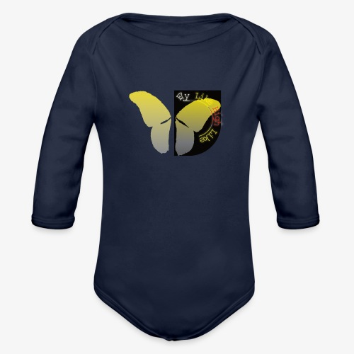 Butterfly high - Baby Bio-Langarm-Body