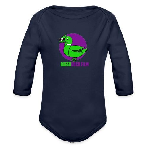 Greenduck Film Purple Sun Logo - Langærmet babybody, økologisk bomuld