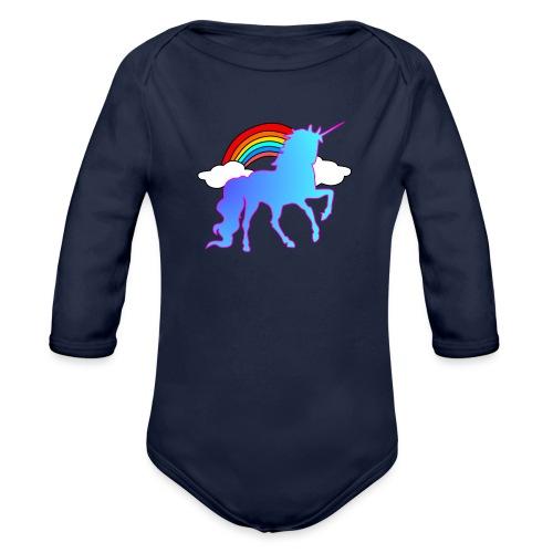 Einhorn Design - Baby Bio-Langarm-Body