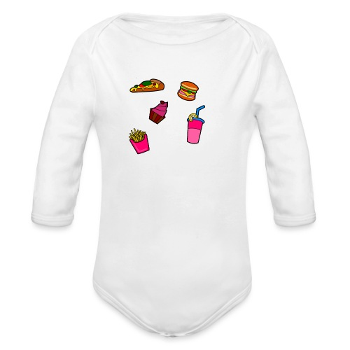 Fast Food Design - Baby Bio-Langarm-Body