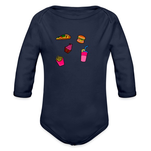 Fast Food Design - Baby Bio-Langarm-Body