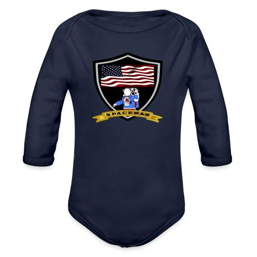 Spaceman Design - Baby Bio-Langarm-Body