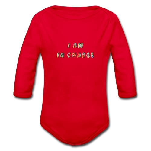 I am in Charge - Organic Longsleeve Baby Bodysuit