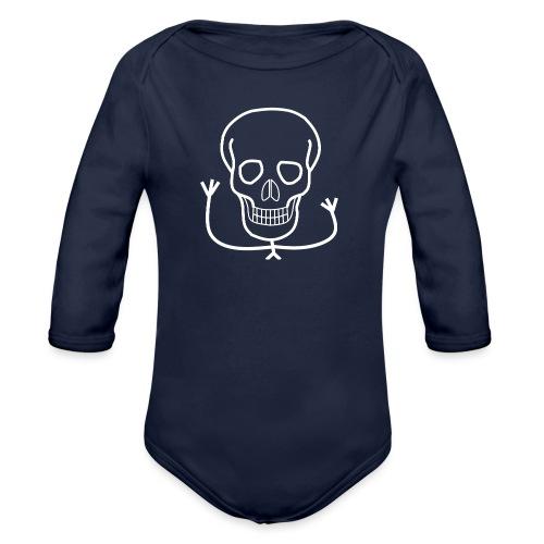 Freundlicher Knochenkopf - Baby Bio-Langarm-Body