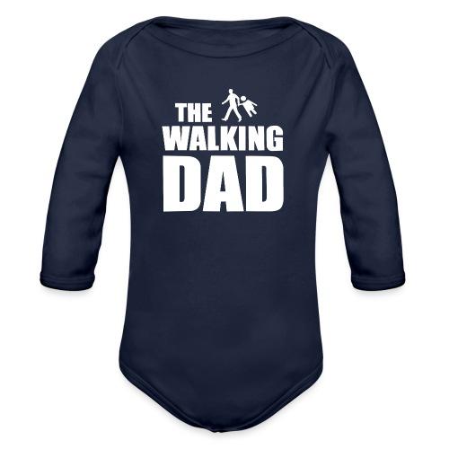 the walking dad weiss auf dem Weg in die lustige - Baby Bio-Langarm-Body