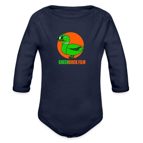 Greenduck Film Orange Sun Logo - Langærmet babybody, økologisk bomuld